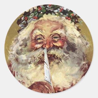 German Santa Stickers 2