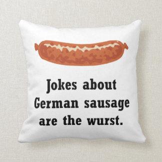 German Sausage Pun Cushion