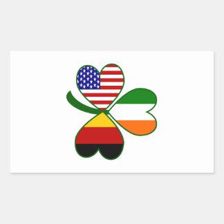 German Shamrock Rectangular Sticker