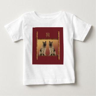German Shepard Asian Design Chinese New Year, Dog Baby T-Shirt