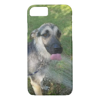 German Shepard Puppy taking a shower iPhone 7 Case