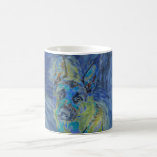 German Shepherd Abstract Coffee Mug
