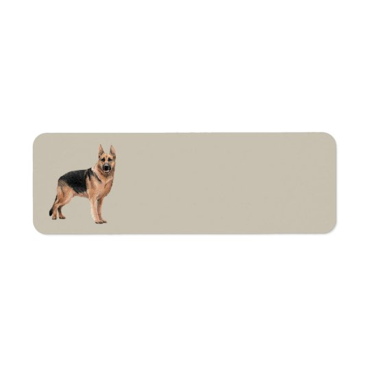 German Shepherd Address Label