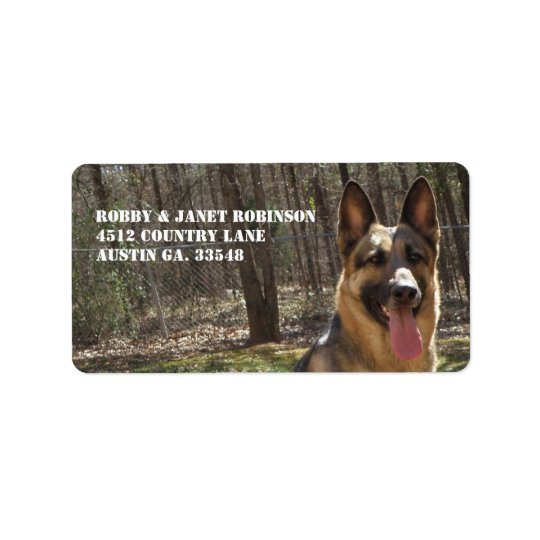 German Shepherd Address Stickers Address Label