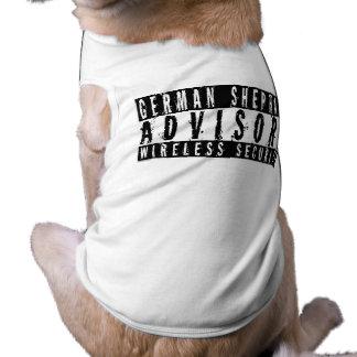 German Shepherd Advisory Wireless Security Sleeveless Dog Shirt