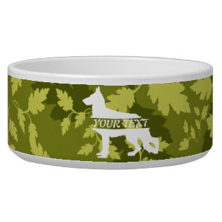 German Shepherd (Alsatian) Camo Dog Bowl