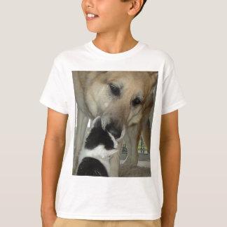 German Shepherd and Kitty Friend T-Shirt