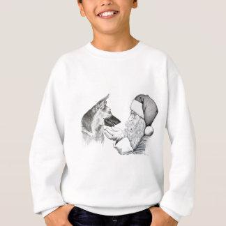 German Shepherd and Santa Claus Sweatshirt
