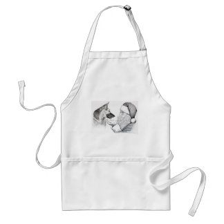 German Shepherd and Santa Standard Apron