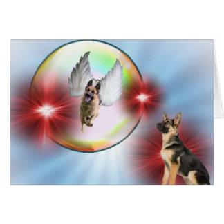 German Shepherd Angel Flying Card