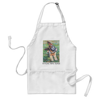 german shepherd APRON OFFICIAL TASTE TESTER