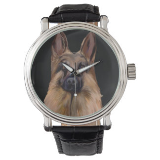 GERMAN SHEPHERD ART WATCH