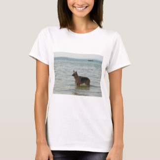 German Shepherd at the Beach T-Shirt