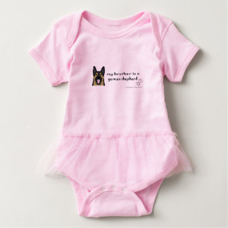 german shepherd baby bodysuit