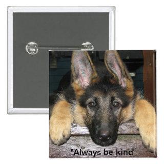 German Shepherd Be Kind Button