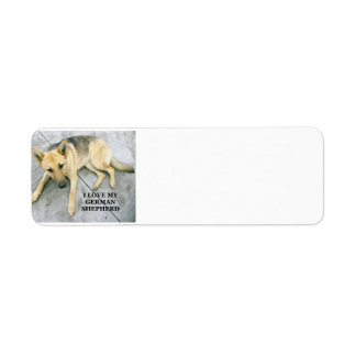 german-shepherd-black and cream love w pic return address label