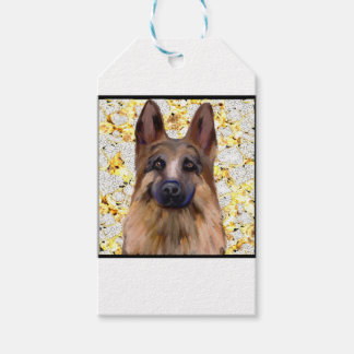 German Shepherd Bling Gift Tags