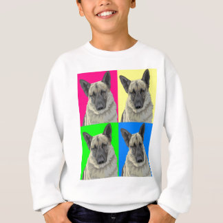 German Shepherd Bright Primary Collage Sweatshirt