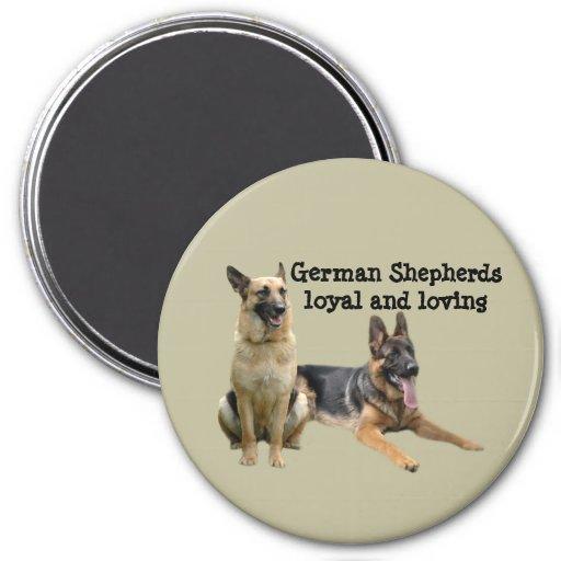 German Shepherd Buddies Magnet