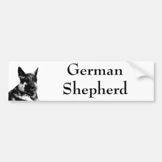 German shepherd bumpersticker bumper sticker
