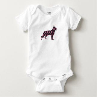 German-Shepherd-Cancer-Ribbon-Black Baby Onesie