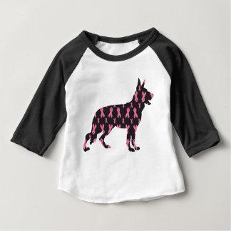 German-Shepherd-Cancer-Ribbon-Black Baby T-Shirt