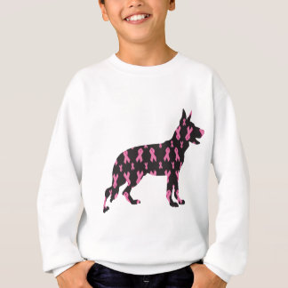 German-Shepherd-Cancer-Ribbon-Black Sweatshirt