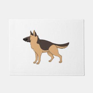 german shepherd cartoon 2 doormat
