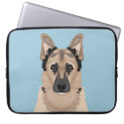 german shepherd cartoon laptop sleeve