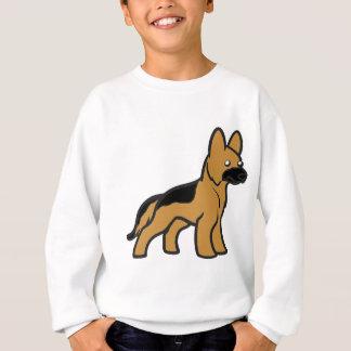 german shepherd cartoon.png sweatshirt