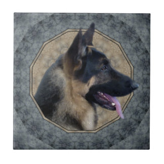 German Shepherd Ceramic Tile