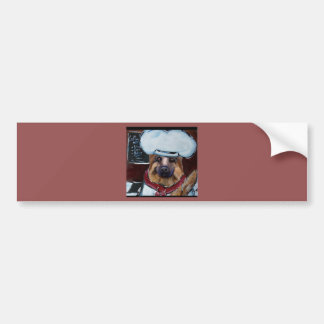 German Shepherd Chef Bumper Sticker