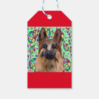 German Shepherd Christmas Gift Tags