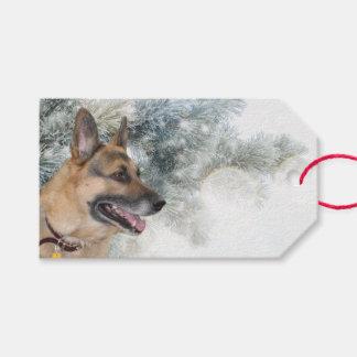 German Shepherd Christmas Gift Tags