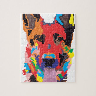 German shepherd color jigsaw puzzle
