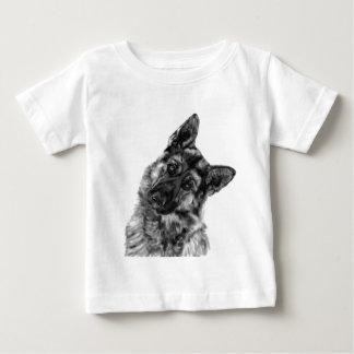 "German Shepherd ""Curious"" Baby T-Shirt"