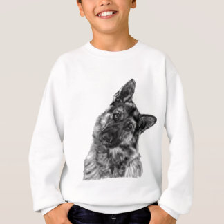 "German Shepherd ""Curious"" Sweatshirt"