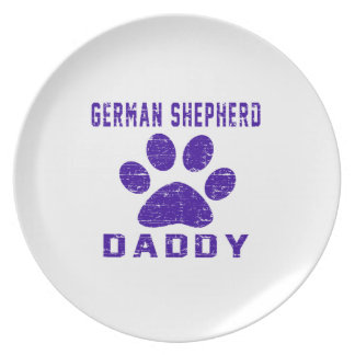 German Shepherd Daddy Gifts Designs Party Plates