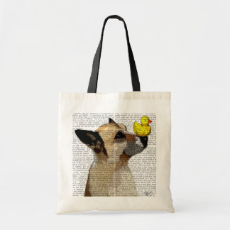 German Shepherd Dog and Duck Budget Tote Bag