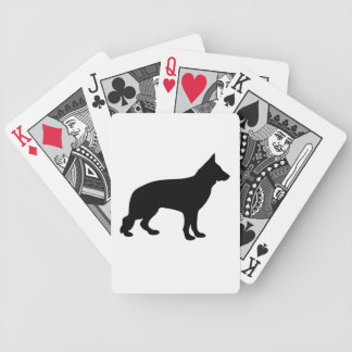 German Shepherd dog beautiful black silhouette Bicycle Playing Cards