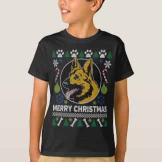 German Shepherd Dog Breed Ugly Christmas Sweater