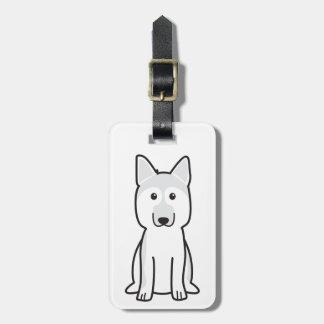 German Shepherd Dog Cartoon Bag Tag
