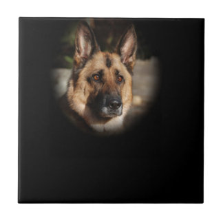 German Shepherd Dog Ceramic Tile