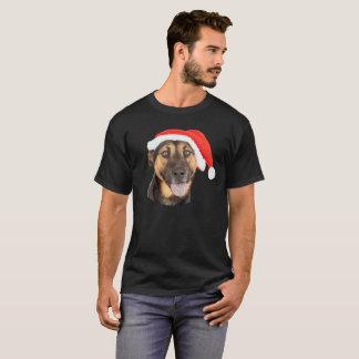 German Shepherd Dog Christmas Santa Hat T-Shirt