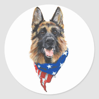 German Shepherd Dog Classic Round Sticker