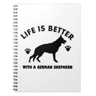 German Shepherd dog Design Notebook