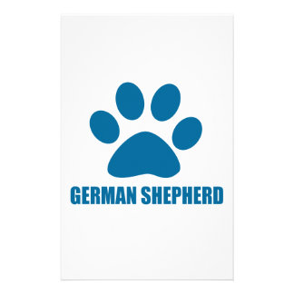 GERMAN SHEPHERD DOG DESIGNS STATIONERY
