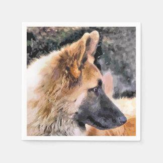 GERMAN SHEPHERD DOG DISPOSABLE SERVIETTE