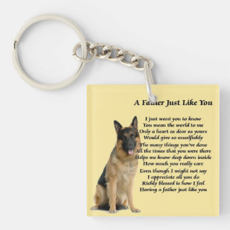 German Shepherd Dog Father Poem Keyring