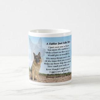 German Shepherd Dog Father Poem Mug